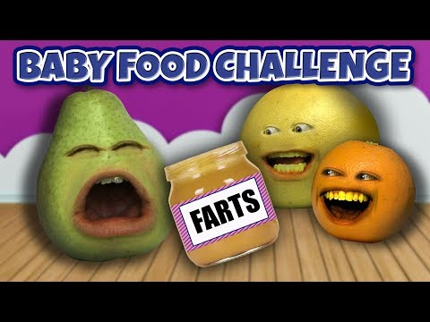 Annoying Orange - Baby Food Challenge!