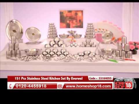 Greha Lakshmi 151 Pcs Stainless Steel Kitchen Set Youtube