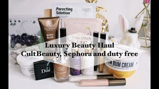 Luxury Beauty Haul with swatches and review [cultbeauty, sephora]