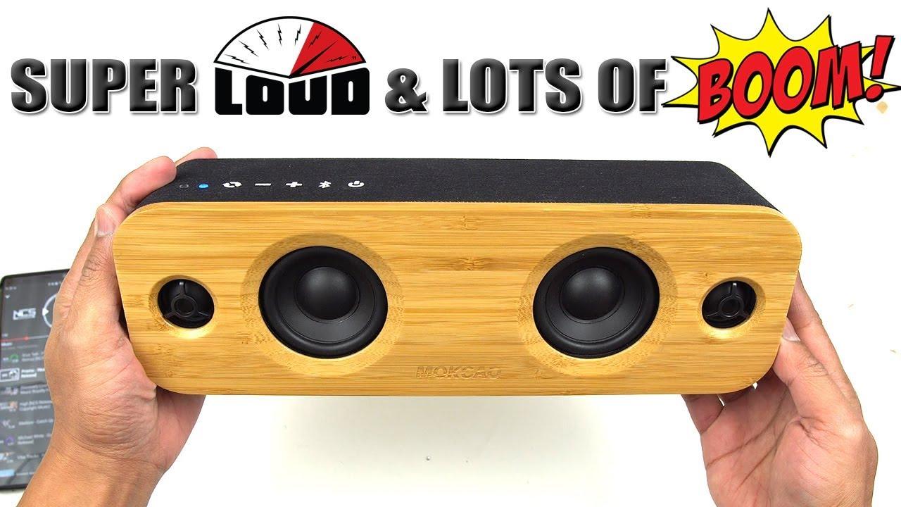 MOKCAO AOMAIS LIFE 30W Bluetooth Speakers Loud Bamboo Audio Wireless Speaker