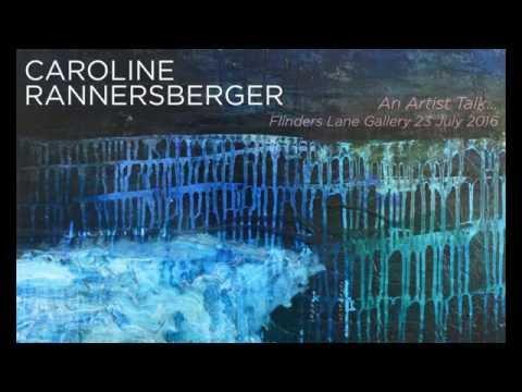Caroline Rannersberger 'Illuminous' artist talk July 2016, Flinders Lane Gallery