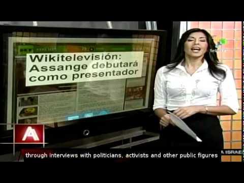 Wikitelevisión: Assange debut as a TV host