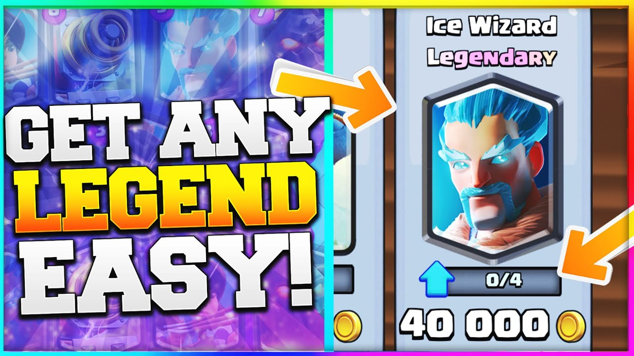 GET LEGENDARY CARDS! Clash Royale Easy Way to Get Legendaries ...