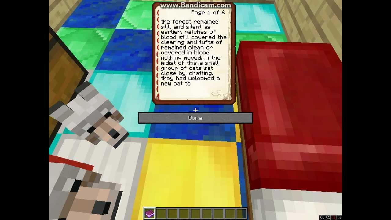 WARRIOR CATS book minecraft 1.3 - YouTube