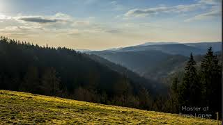 254 Time Lapse Black Forest Fog Valley Nature Evening | Zeitraffer Schwarzwald Täler Wald Abend 4K
