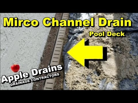Pool Deck Channel Drain,  Micro Channel Drain, how to repair and clean