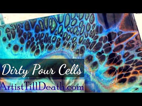 Rezin Arte Colours and DIRTY POUR CELLS