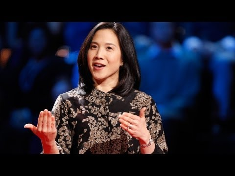 Angela Duckworth delivers a TED talk in 2013.