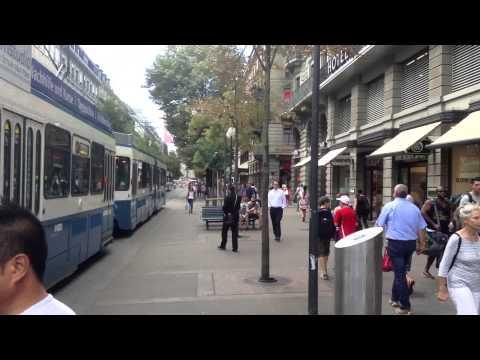 Glimpse of City Life in Zurich, Switzerland July 2013