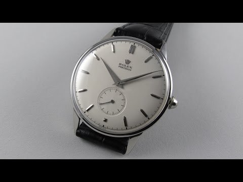 Steel Rolex Precision Ref. 4357 vintage wristwatch, circa 1950