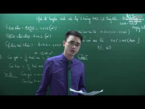 Giải đề thi vao 6 trường chuyên Lê Quý Đôn - Bắc Giang - Ngày thi 30.5.2019