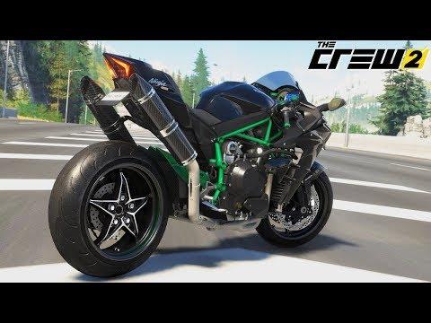 THE CREW 2 - KAWASAKI NINJA H2 - Wheelies, Stoppies and Races! |