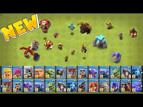 """ALL TROOPS LEVELED UP!! """" clash of clans """"  MAX TROOPS & SPELLS!!"""
