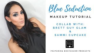 Blue Seduction Tutorial   Collab Using Boxycharm Products