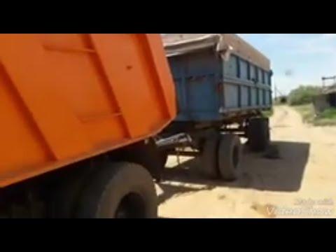 Прицеп зерновоз, усиление рессор
