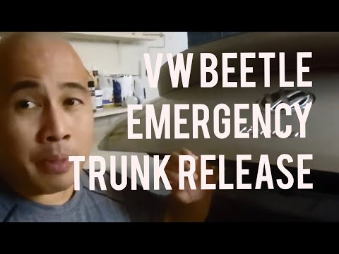 Volkswagen Beetle How to Open Trunk When the VW Logo Handle is Broken or During Emergency 2011-2018