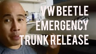 Volkswagen Beetle How to Open Trunk When the VW Logo Handle is Broken or During Emergency 2011-2018