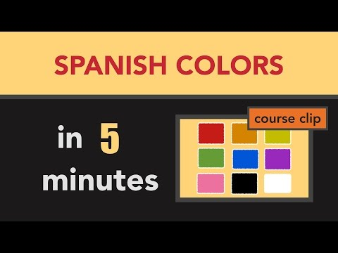 Spanish vocabulary learn spanish colors in less than 5 for Colors in spanish