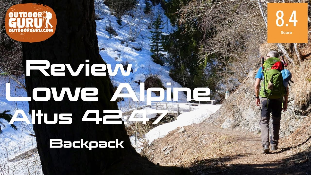 d23dba591ab Lowe Alpine Altus 42 Backpack Review (2019) - YouTube
