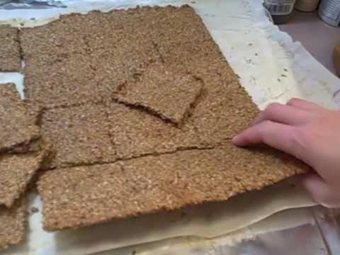 HCG P3- making flax crackers