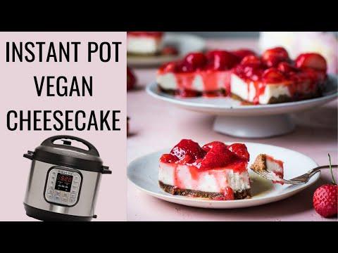INSTANT POT CHEESECAKE | vegan cheesecake recipe