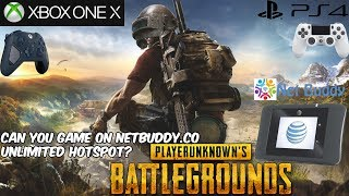 Netbuddy.Co Unlimited 4G Hotspot Gaming Test Xbox One X /PS4 (Honest Review) HD