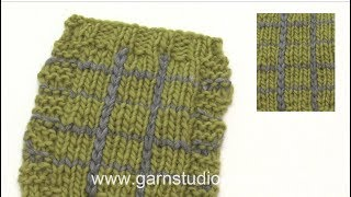 How to knit plaid with crochet stitches