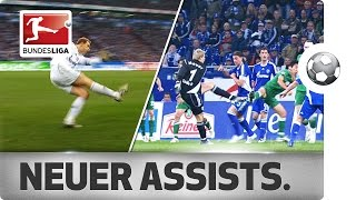 Manuel neuer - all assists from bayern's star goalkeeper