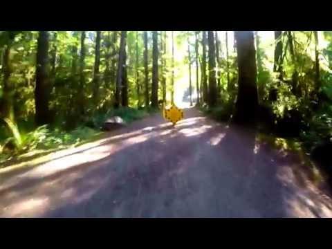 Gordon Bay Provincial Park on mountain bike 4K!  Lake Cowichan  Victoria bc / Vancouver Island
