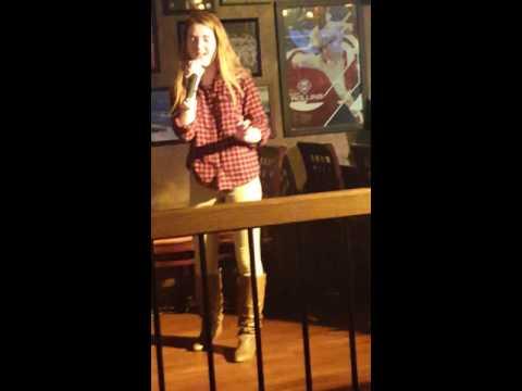 Talented singer at Maggios karaoke