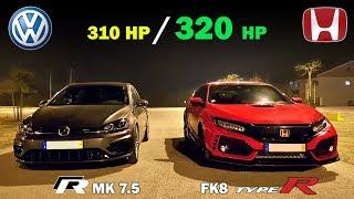 Download Video VW Golf R mk 7.5 🆚 Civic Type R FK8 - 2018 Battle 🏁 MP3 3GP MP4