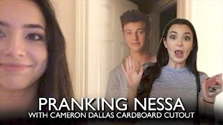 Pranking Nessa with Cameron Dallas Cardboard Cutout