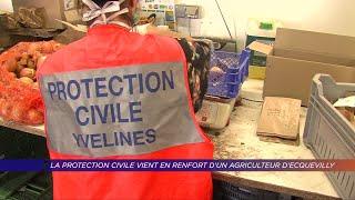 Yvelines | La protection civile vient en renfort d'un agriculteur d'Ecquevilly