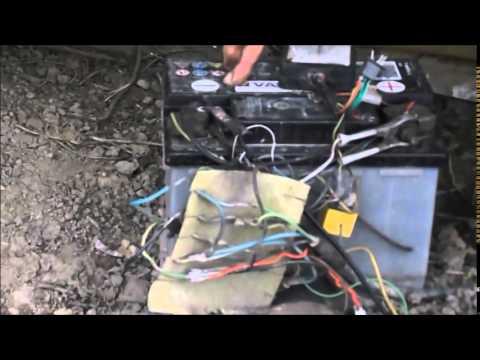 Portail lectrique solaire fait maison youtube for Portail electrique solaire