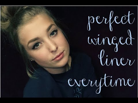 EASIEST way to do winged-liner PERFECT everytime | Ashley Even