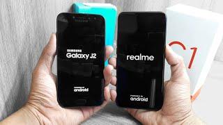Realme C1 vs Galaxy J2 Pro 2018 - Speedtest