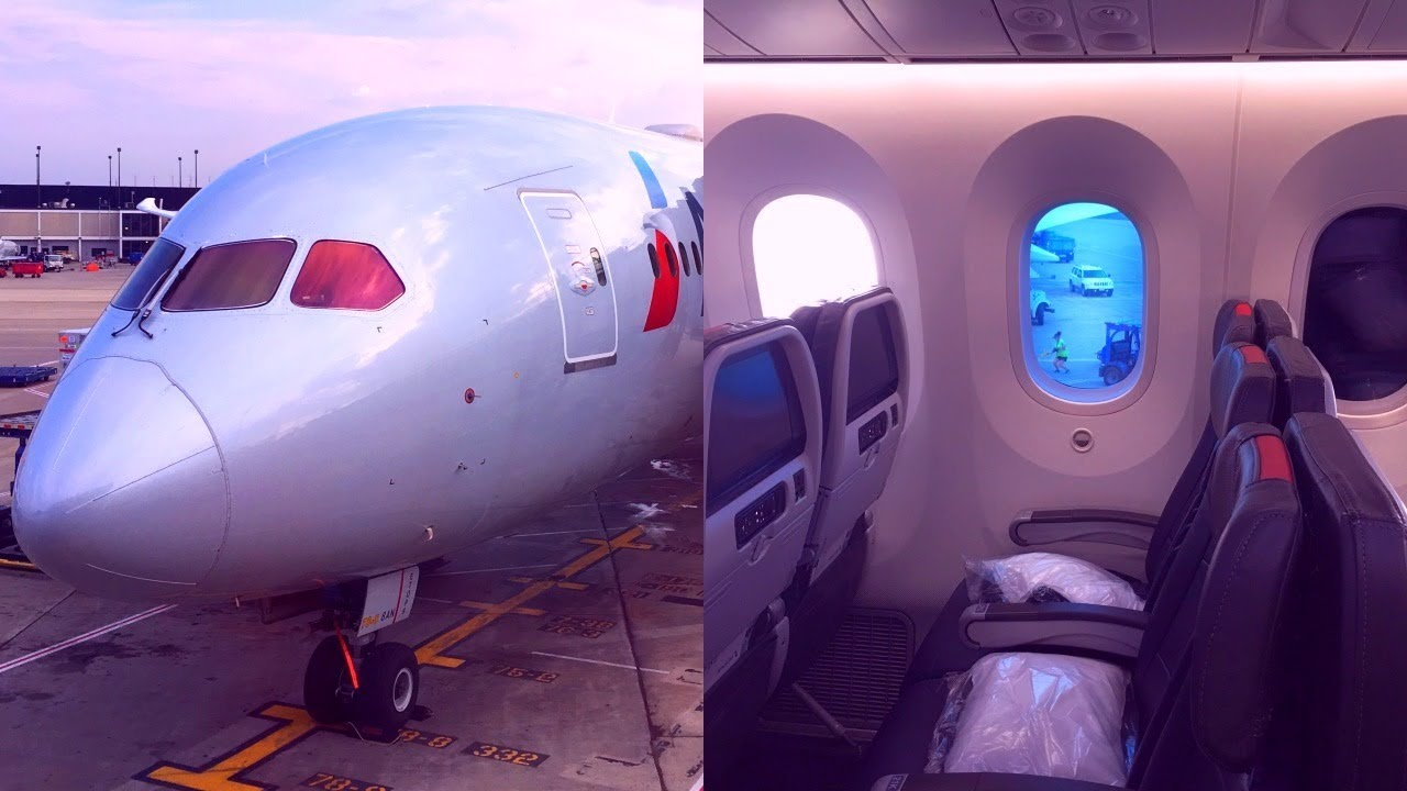 American Airlines Boeing 787 8 Dreamliner Main Cabin Extra Chicago London Heathrow