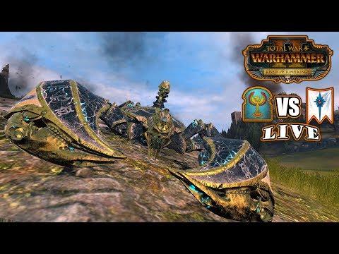 Constructs go HAM (1v1) Tomb Kings vs High Elves - Total War: Warhammer II Battlecast #66