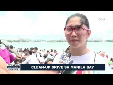 Clean-up drive sa Manila Bay