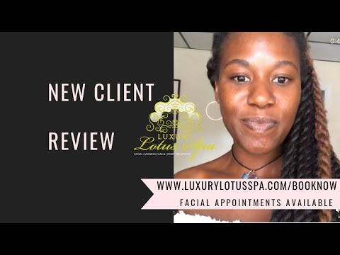 Official * Client Review for Luxury Lotus Spa in Tampa, Florida (FL) clear skin facial for acne