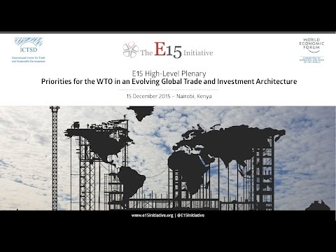 TDS LIVE | E15 PLENARY: Priorities for the WTO in an Evolving Global Trade ...