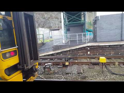 Class 158 coupling up in machynlleth
