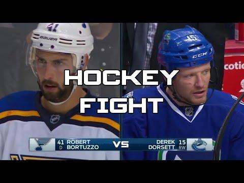 Hockey Fight - Robert Bortuzzo (St. Louis Blues) vs Darek Dorsett (Vancouver Cannucks)