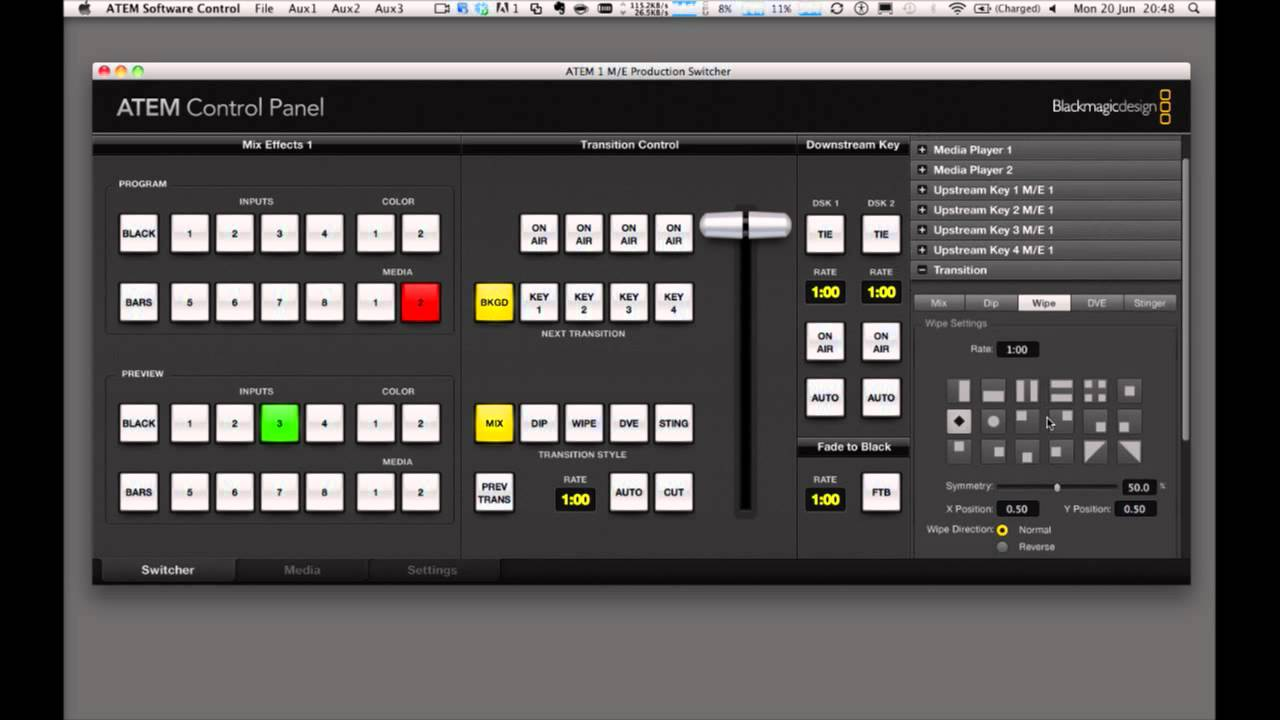 blackmagic atem switcher software