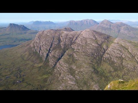 The Fiddler, Sgurr an Fhidhleir, Coigach, North West Scotland by drone