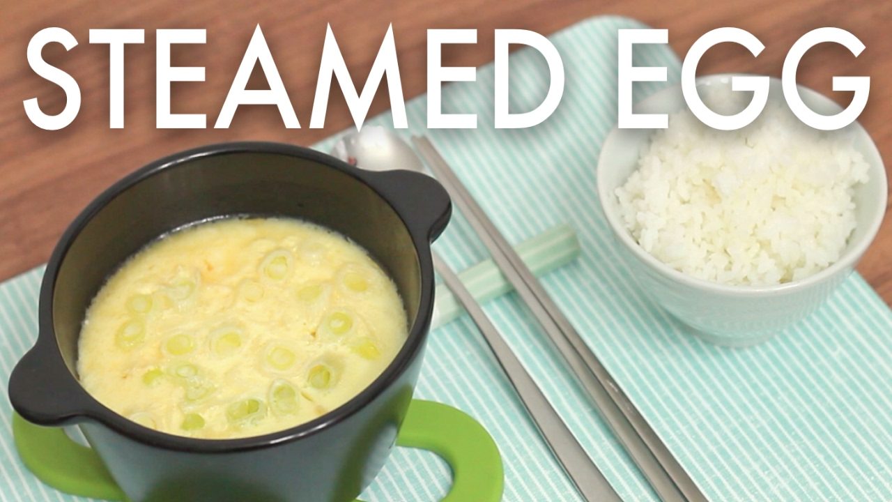 Korean Soul Foods Steamed Egg Recipe Korean Cooking