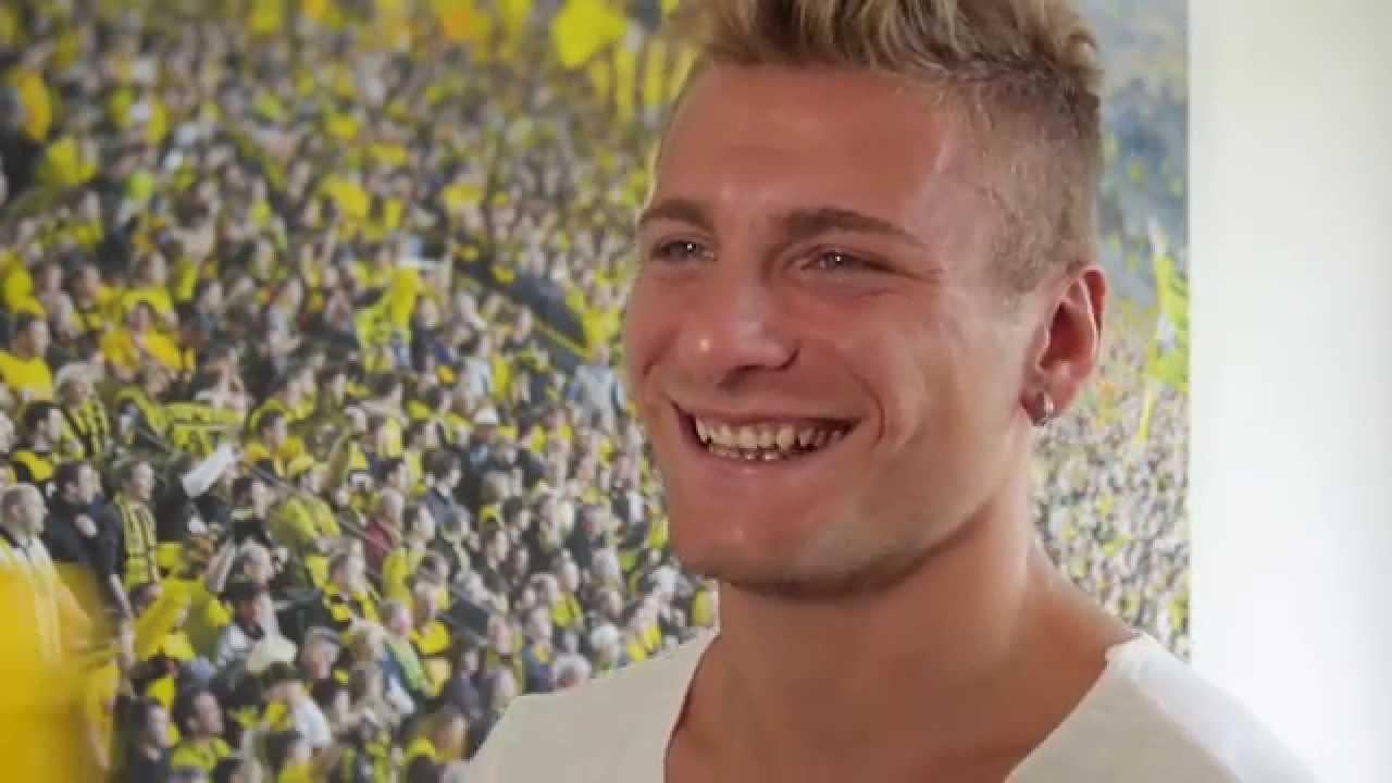 Ciro Immobile da! Seine ersten Worte auf Deutsch | Italiens Nationalstürmer bei Borussia Dortmund