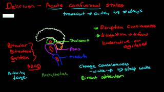 Pathophysiology of delirium