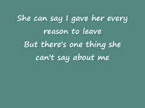 She Can't Say I Didn't Cry- Rick Trevino (Lyrics)