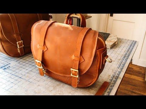 Making a Leather Shoulder Bag - No.64 | Leather Satchel Shoulder Bag